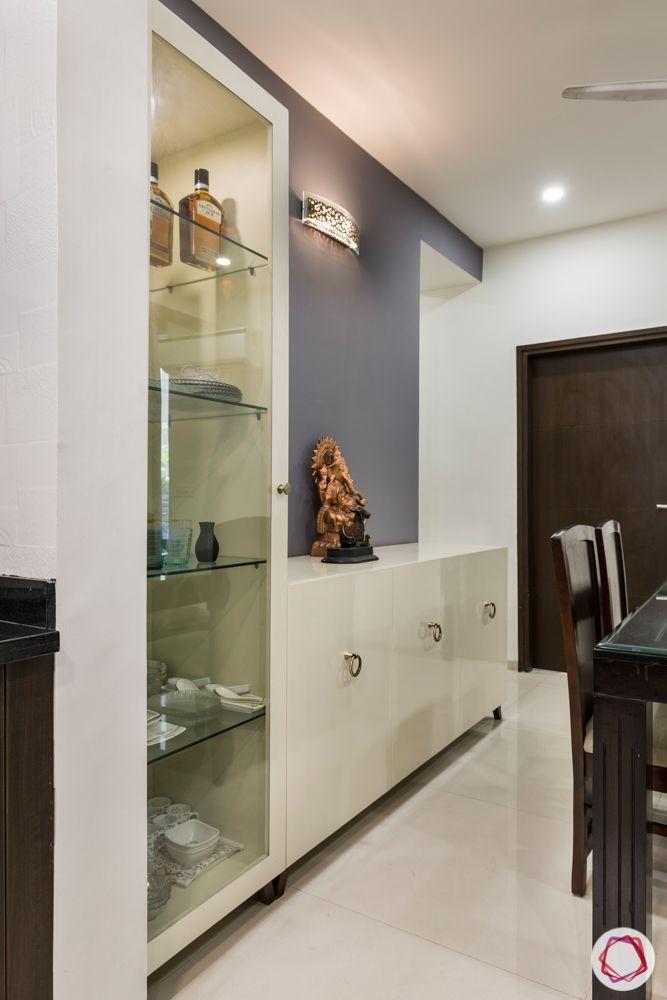 tulip violet-open kitchen designs-crockery cabinet designs