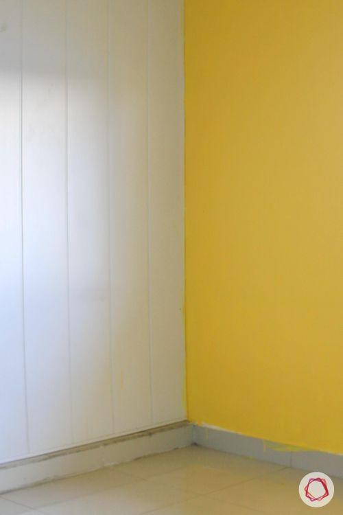 christmas tree making-yellow wall ideas