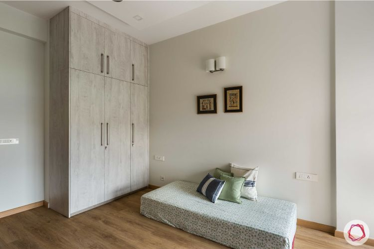 floor seating ideas-white wardrobe designs