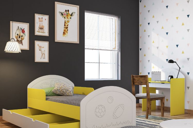 kids room lights-yellow bed designs-pendant light designs