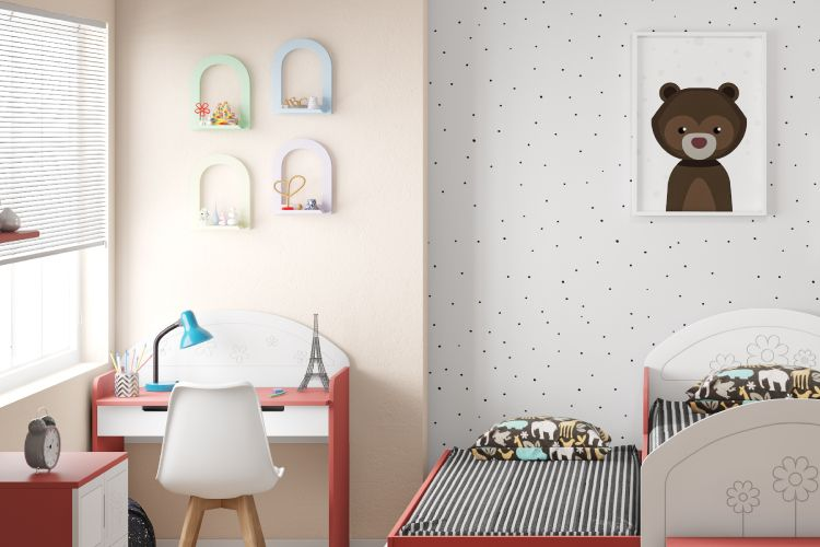 kids room lights-red bed designs-blue study lamp designs