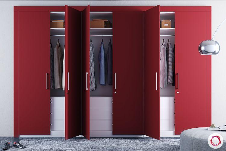bedroom-cupboard-designs-red-built-in-wardrobes-swing-door