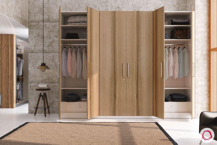 bedroom-cupboard-designs-free-standing-wardrobes-wooden-swing-door