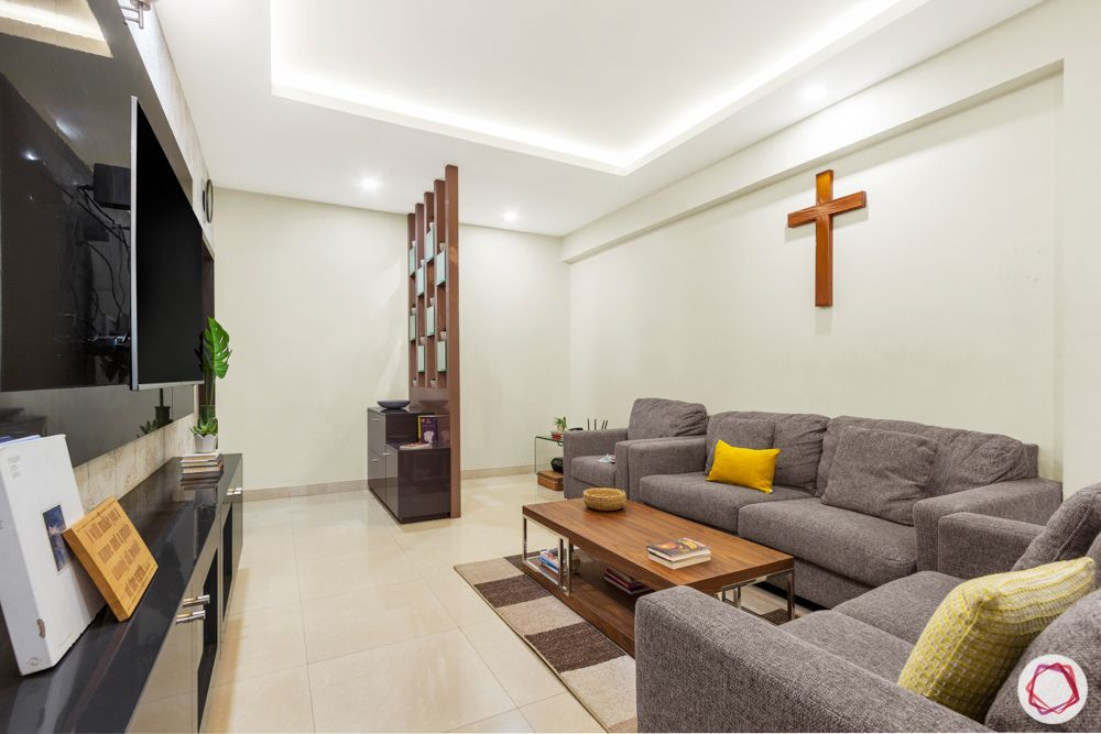 Salarpuria Sattva Aspire-foyer-jaali-sofa-coffee-table-rug