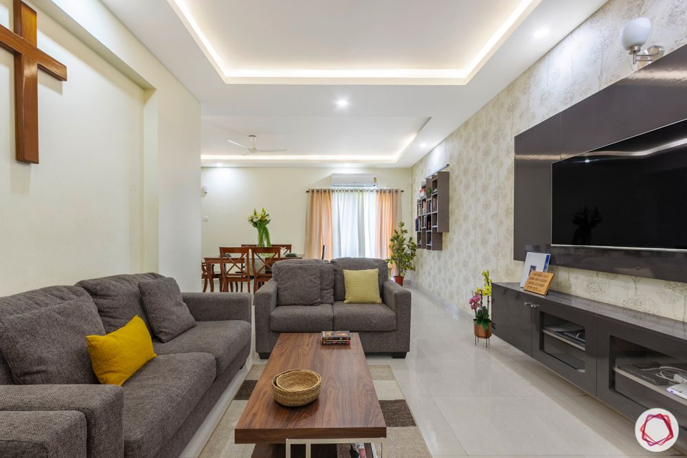 Salarpuria Sattva Aspire-foyer-jaali-sofa-TV-unit-acrylic