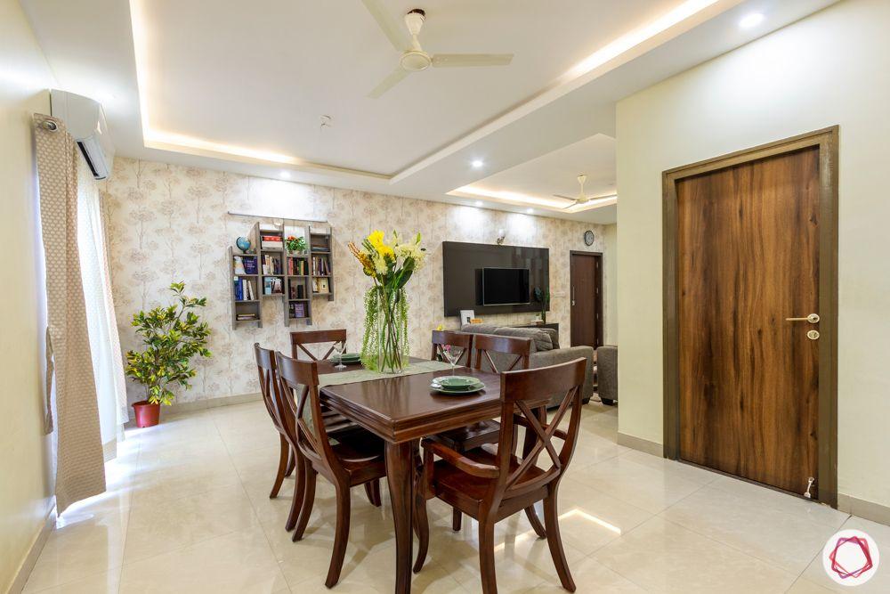 Salarpuria Sattva Aspire-dining-room-wooden-cove-light