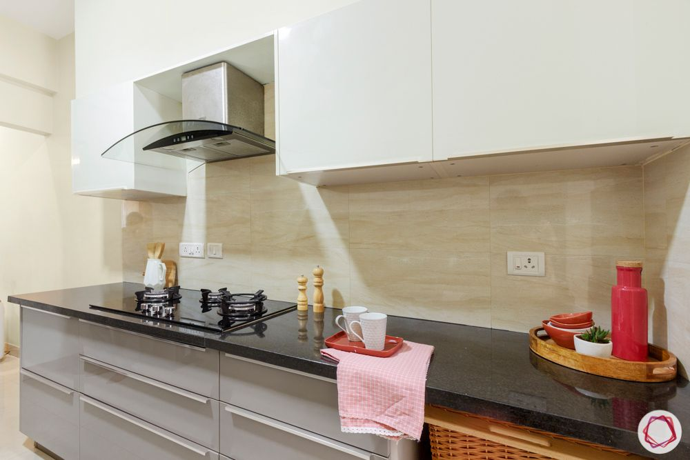 Salarpuria Sattva Aspire-kitchen-cabinets-white-grey-black-counter