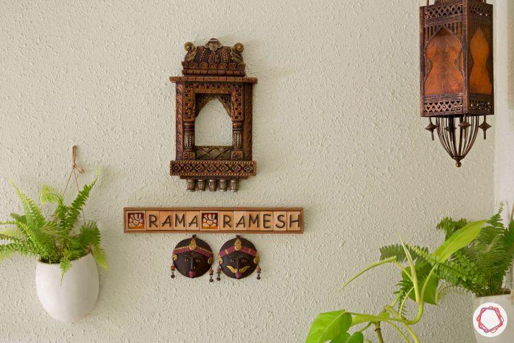 nameplate designs-entrance decor ideas