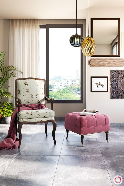 irrfan khan-corner-upholatered chair-ottoman