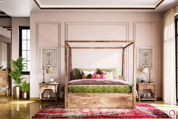 irrfan khan-sutapa bedroom-wooden furniture-artwork
