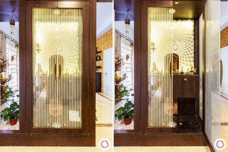 prestige lakeside habitat-glass pooja unit-backlit panel designs