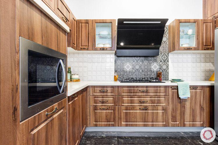prestige lakeside habitat-wooden kitchen-membrane finish kitchen