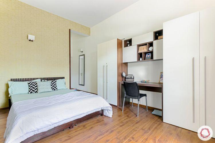 prestige lakeside habitat-wooden flooring designs-white wardrobe designs