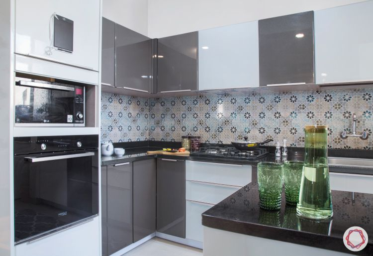 budget kitchens-two-toned kitchen-grey and white kitchen