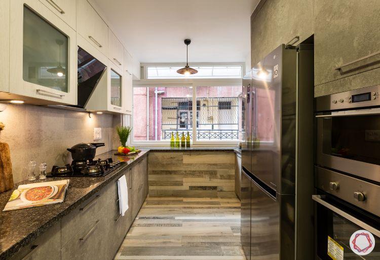 two-toned kitchen-ergonomic kitchen