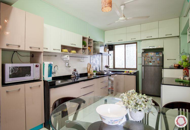 livspace kitchens-semi modular kitchen