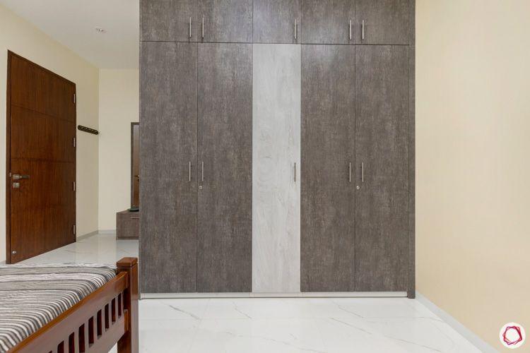 interior design in hyderabad-grey wardrobe-membrane finish