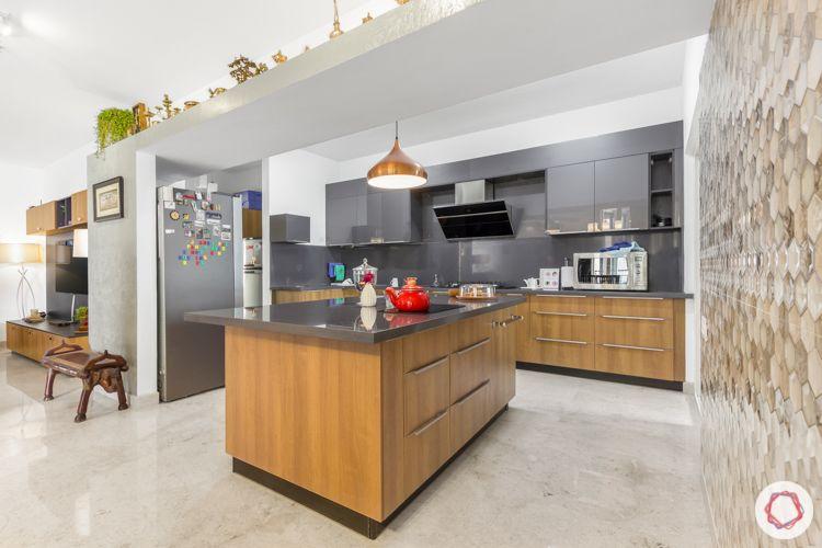 Livspace kitchen-kitchen and island counter-grey kitchen