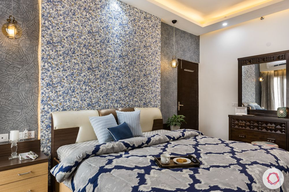 low budget home design-bedroom designs-wallpaper-LED lighting