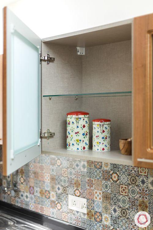 Livspace kitchen-wall cabinets-soft close mechanism