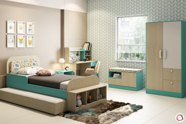 Kids wardrobe-bed-daybed-study unit