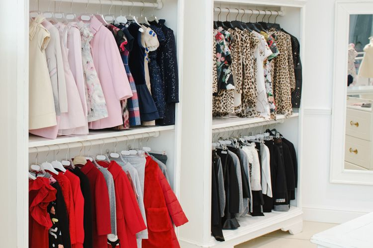 kids wardrobe-two level hanging