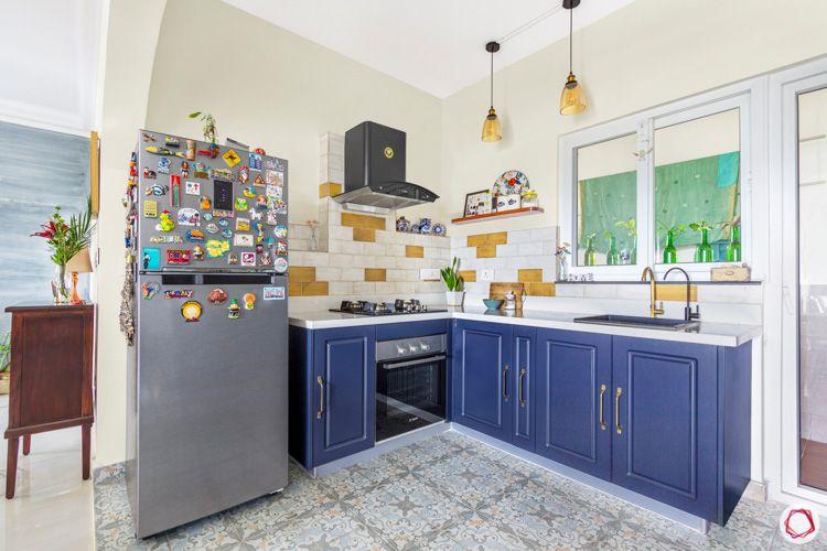 Shriram Chirping Woods-kitchen-blue-fridge-lights
