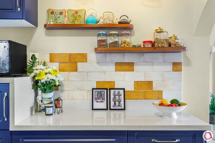Shriram Chirping Woods-kitchen-shelves-backsplash-yellow-white