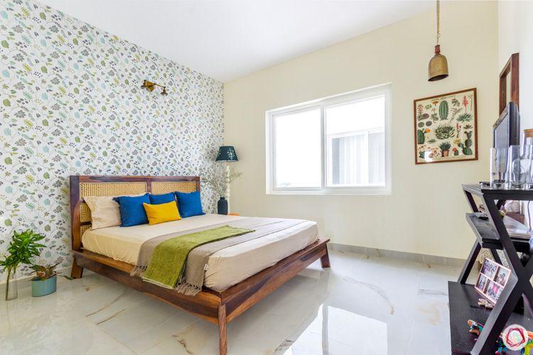 Shriram Chirping Woods-bedroom-wallpaper-plants