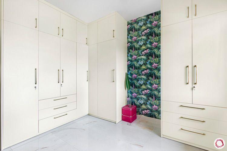 Shriram Chirping Woods-walk-in-wardrobe-white-drawers