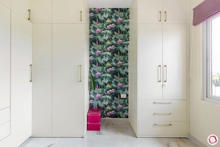 Shriram Chirping Woods-walk-in-wardrobe-white-drawers-lofts