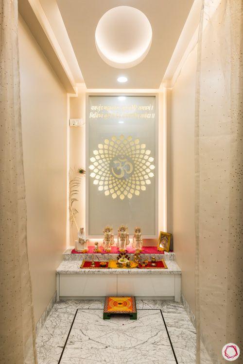 pooja room-custom backsplash