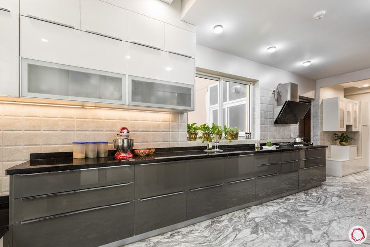 closed cabinets-wall cabinet designs-base cabinet designs-marble flooring