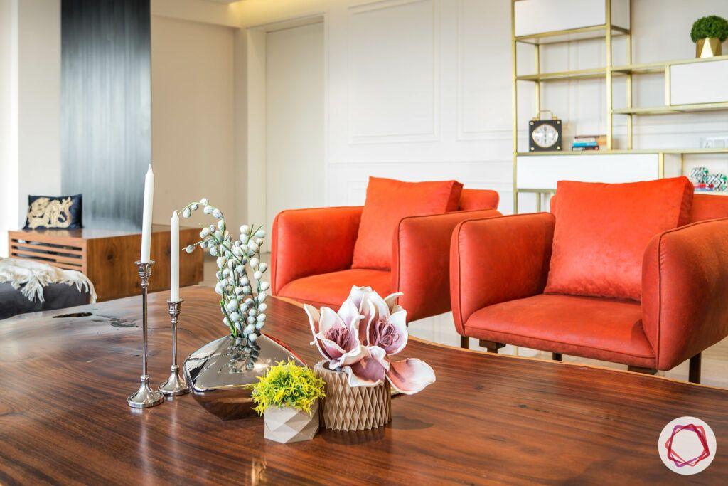 club-chair-orange-living-room-coffee-table