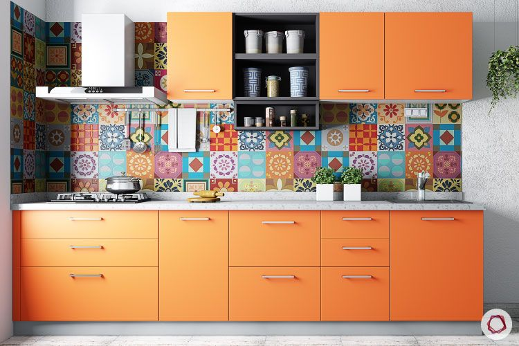 Vastu tips for home-orange kitchen