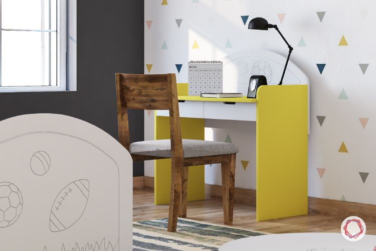 study table for kids-study table designs-yellow stidy table