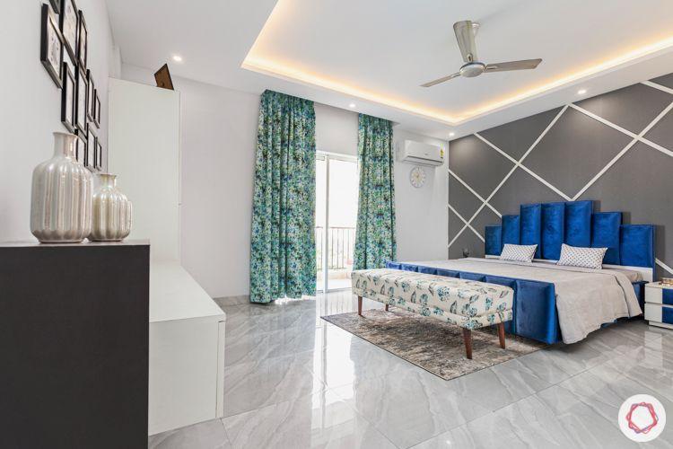 Flooring trends 2020-marble print tiles-bedroom