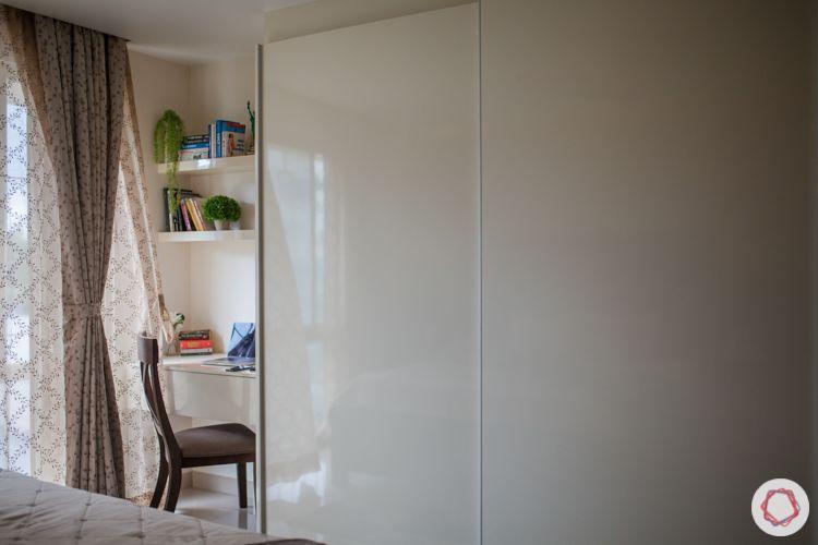 3bhk in pune-sliding wardrobe designs-white wardrobe designs