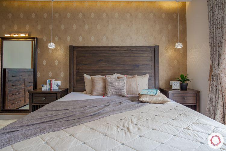 marvel bisra-beige wallpaper designs-framed mirror design
