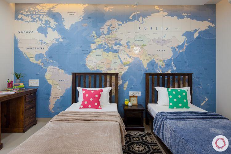 marvel bisra-world map wallpaper designs-single bed designs