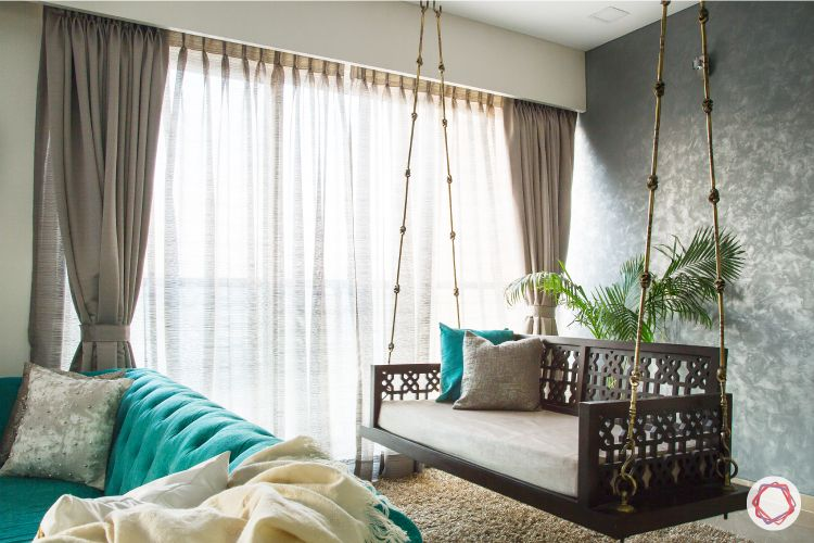 indian home decor ideas-swing-jhoola-wood and brass