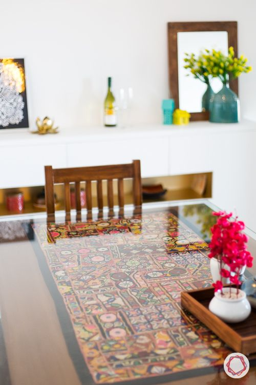 indian home decor-patchwork design for glass table