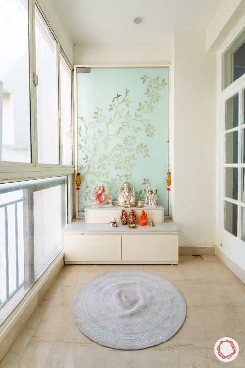 pooja room-glass-quartz-compact