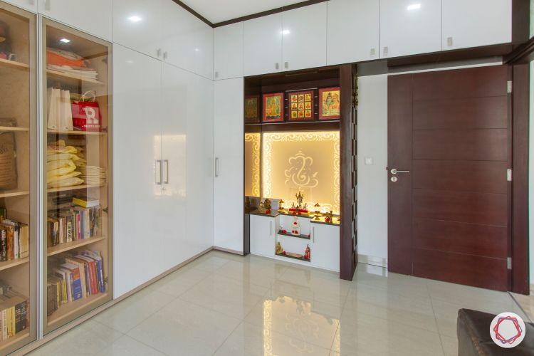 wooden pooja room designs-pooja room inside cabinet