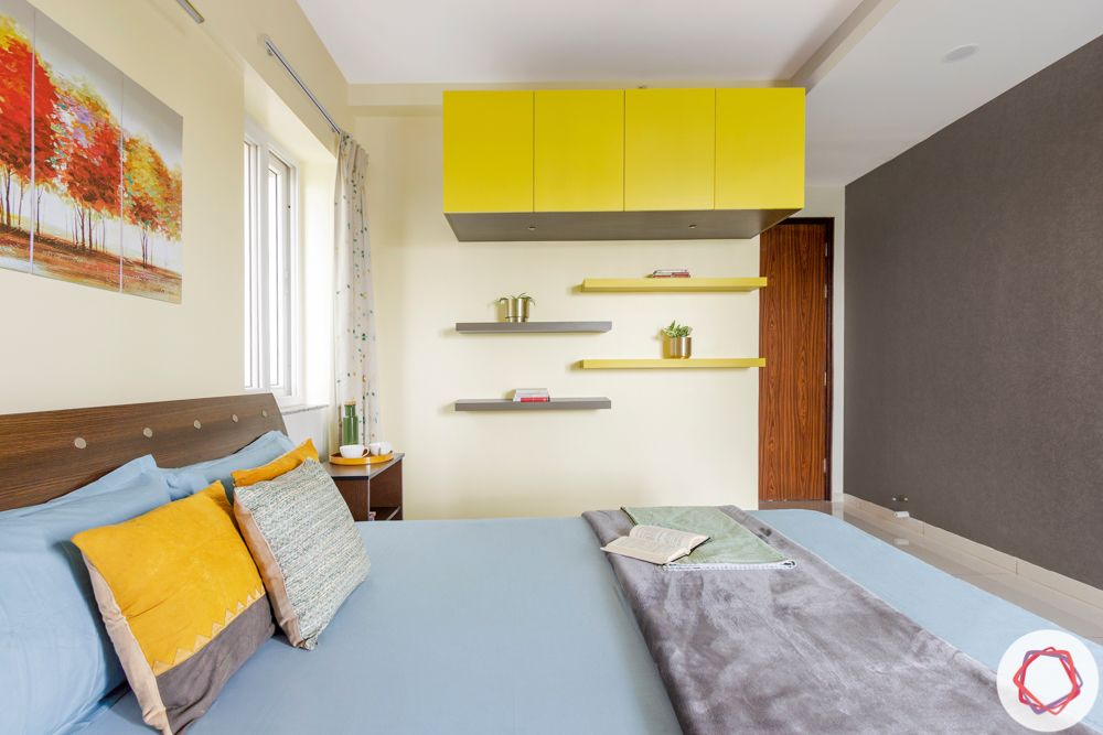bangalore-home-design-bedroom-yellow-lofts-wall-ledges