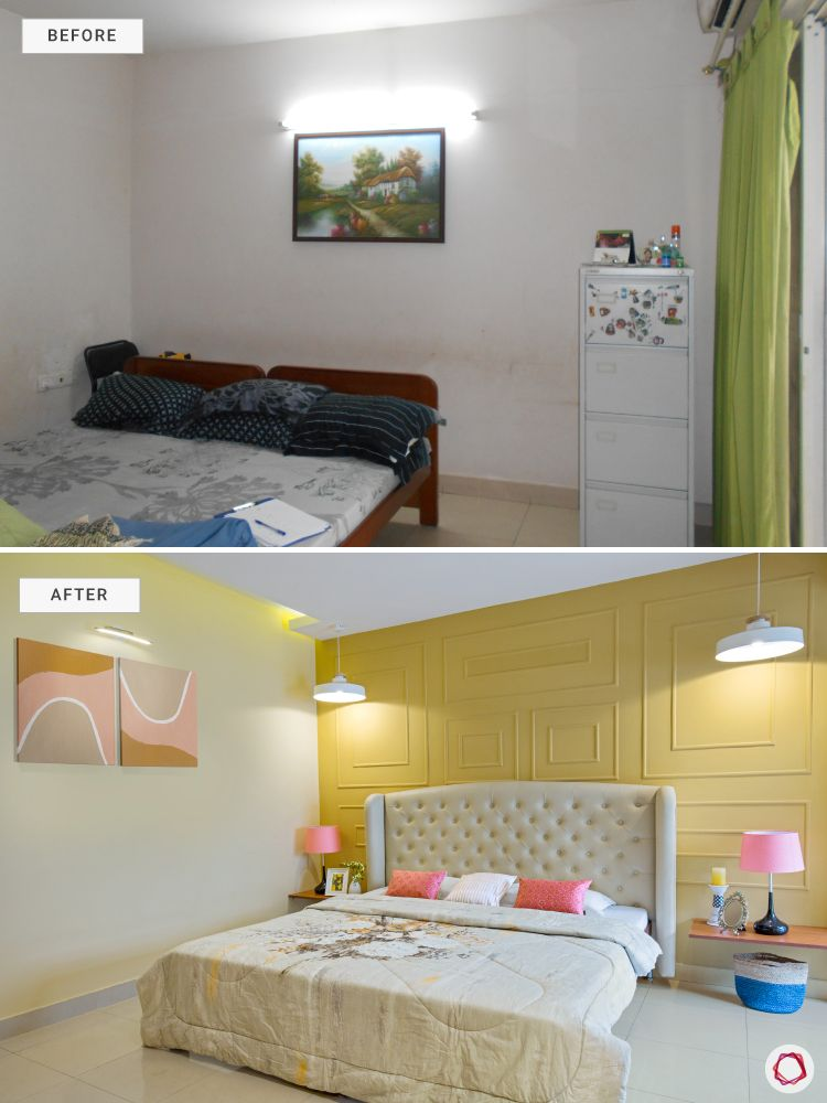 bangalore-home-design-bedroom-before-after-makeover-yellow-wall