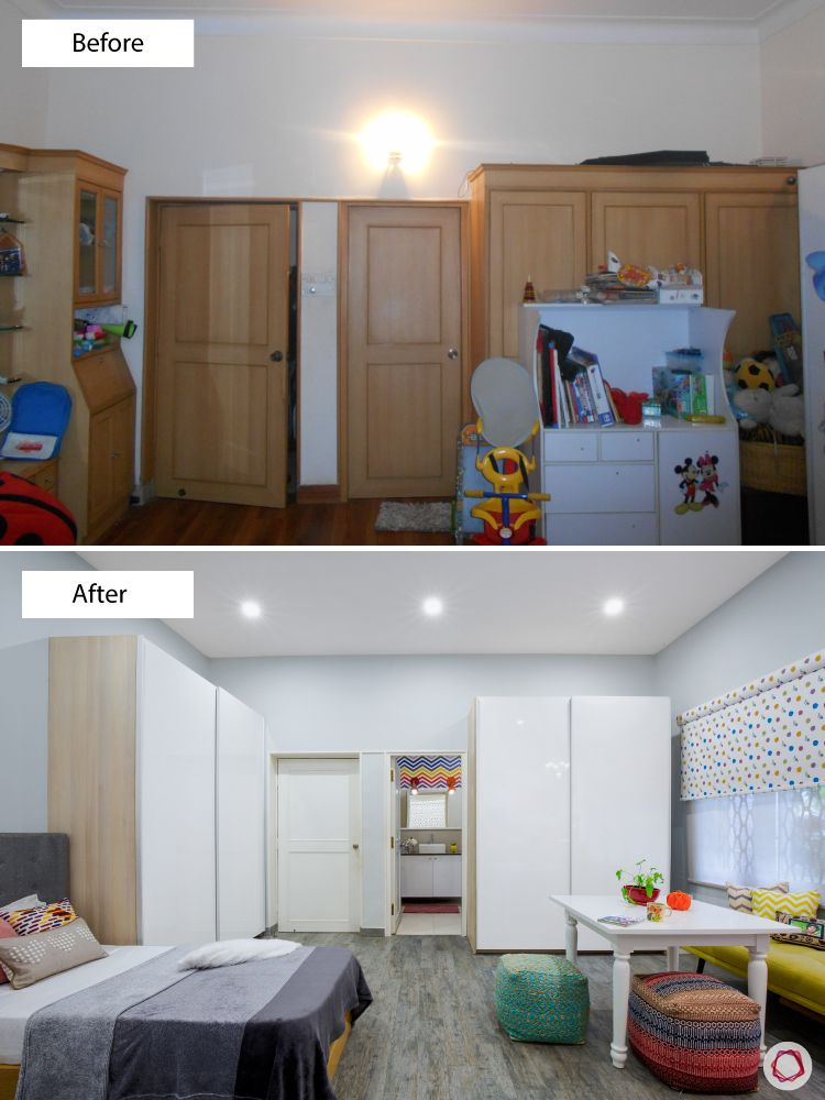 bangalore-home-design-kids-room-makeover-wardrobe-table