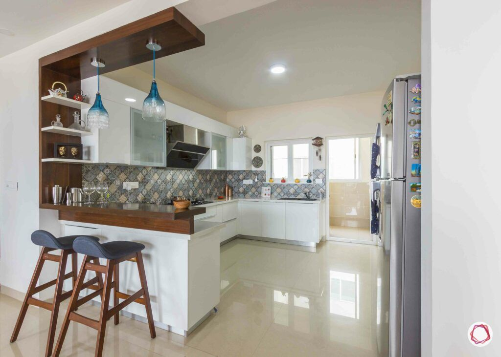 bangalore-home-design-open-kitchen-breakfast-counter
