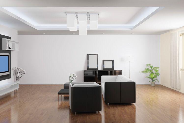 tv unit-sofa designs-white walls