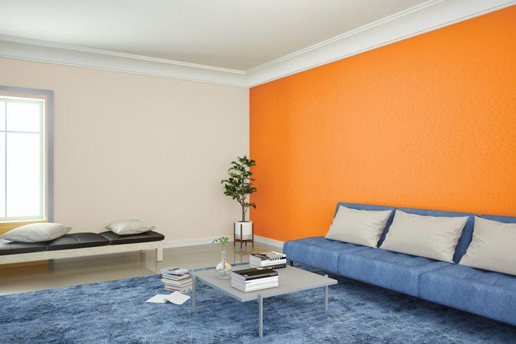 wall painting-orange